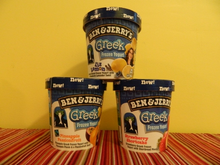 Ben & Jerry's new line of frozen Greek yogurt.